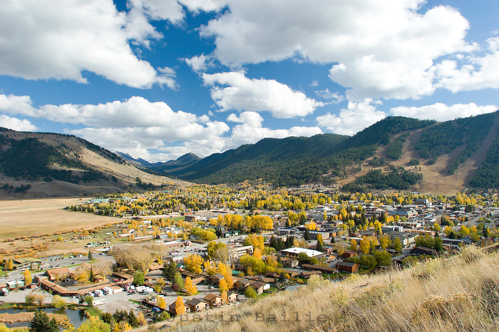 Scenic view of Jackson, Wy in fall.