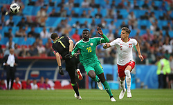 Senegal's M'Baye Niang (centre) scores his side's second goal of the game