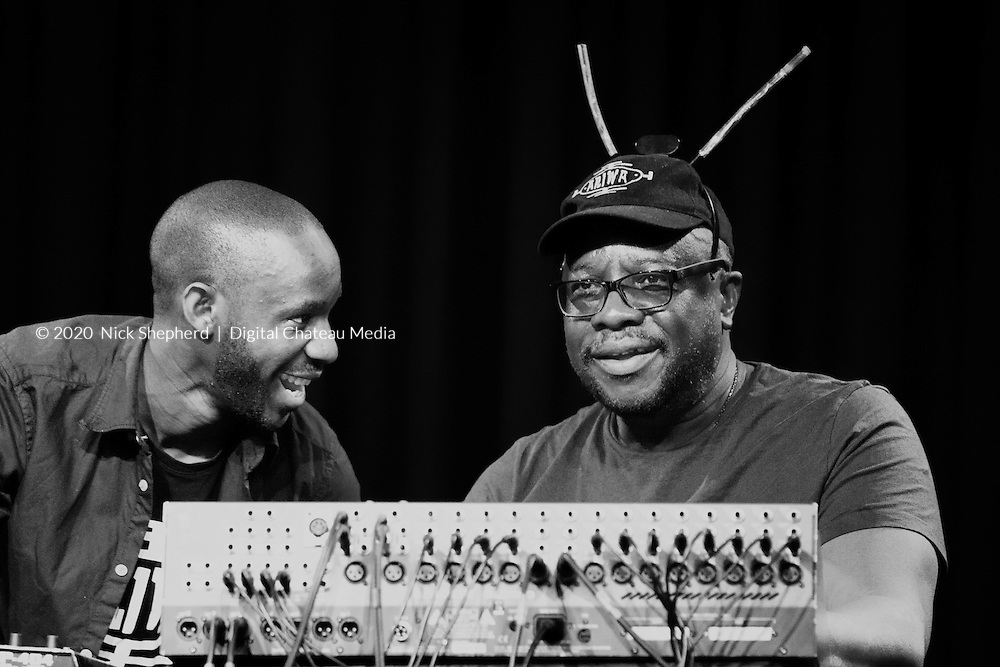 Mad Professor and Joe Ariwa live on stage at Fairfield Halls, South London. March 29th, 2015 - EDITORIAL USE ONLY
