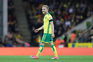 Norwich City forward Alex Pritchard (21) scores a goal 1-0 and celebrates during the EFL Sky Bet Championship match between Norwich City and Brighton and Hove Albion at Carrow Road, Norwich, England on 21 April 2017.