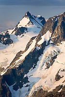 Mount Matier (2783 m 9131 ft) from the North displaying the Anniversary Glacier, Coast Range British Columbia Canada beauty in nature