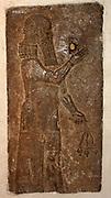 Protective Spirit Palace of Sargon II, Khorsabad, Iraq. 710-705 BC Gypsum wall relief