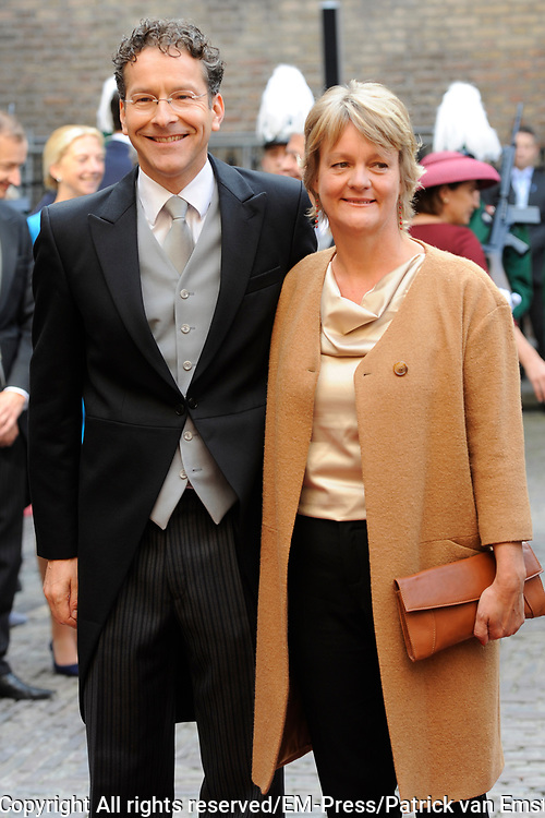 Prinsjesdag 2014 - Aankomst Politici op het Binnenhof.<br /> <br /> Op de foto: Jeroen Dijsselbloem - minister van Financiën