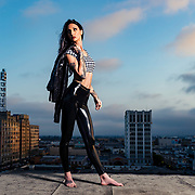 Studio fashion shoot with Los Angeles model, Jennifer Giragos. Images made at FD Photo Studios  on June 21, 2018 in Downtown Los Angeles, California.  ©Michael Der