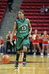 06 December 2008: Sydney Huntley-Rogers during a game between the Eastern Michigan Eagles and the Illinois State Redbirds on Doug Collins Court inside Redbird Arena on the campus of Illinois State University, Normal Il.