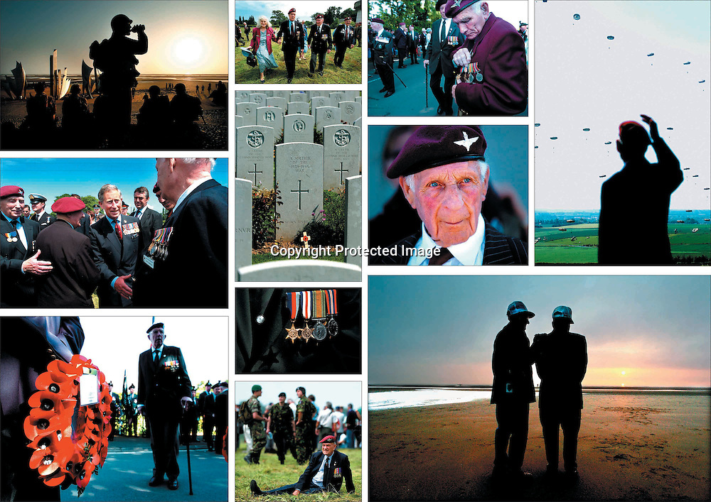 Irish Veterans of Allied Armies never officially recognised by their own Country, return to Normandy for D-Day's 60th Anniversary.