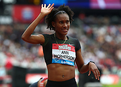 July 22, 2018 - London, United Kingdom - Stephenie Ann McPHERSON of Jamaica winner of the 400m Women race.during the Muller Anniversary Games IAAF Diamond League Day Two at The London Stadium on July 22, 2018 in London, England. (Credit Image: © Action Foto Sport/NurPhoto via ZUMA Press)