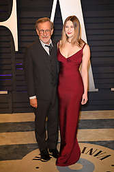 Steven Spielberg and Destry Allyn Spielberg attending the 2019 Vanity Fair Oscar Party hosted by editor Radhika Jones held at the Wallis Annenberg Center for the Performing Arts on February 24, 2019 in Los Angeles, CA, USA. Photo by David Niviere/ABACAPRESS.COM