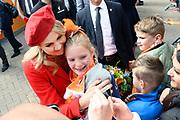 Koningsdag 2018 in Groningen / Kingsday 2018 in Groningen.<br /> <br /> Op de foto: Koningin Maxima /// Queen Maxima