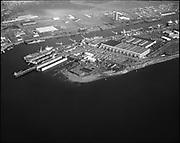 "Ackroyd 19113-1.  ""NW Marine Iron Works. Aerial. Swan Island. November 13, 1974"""