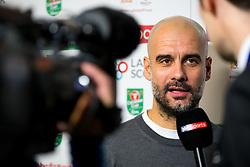 Manchester City manager Pep Guardiola is interviewed by Sky Sports before the match - Rogan/JMP - 23/01/2018 - Ashton Gate Stadium - Bristol, England - Bristol City v Manchester City - Carabao Cup Semi Final Second Leg.