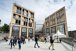 Edinburgh, Scotland, UK. 24 June 2021. First images of the new St James Quarter which opened this morning in Edinburgh. The large retail and residential complex replaced the St James Centre which occupied the site for many years. Pic; General view of entrance to mall from Leith Street.  Iain Masterton/Alamy Live News