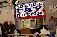 Renaming of the Laconia Ice Arena to Merrill Fay Arena.  Karen Bobotas for the Laconia Daily Sun