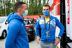 Kristof Knap, doctor of Team Slovenia and Andrej Hauptman, head coach of Slovenia during Men Elite Road Race at UCI Road World Championship 2020, on September 27, 2020 in Imola, Italy. Photo by Vid Ponikvar / Sportida
