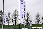 Nederland, Nijmegen, 3-12-2020 Langs de a325 in Lent wordt een mega testlocatie van de GGD gebouwd . Het xl-paviljoen is bijna klaar en kan een groot aantal coronatests per dag, rond de 4000, voor de bewoners in de regio arnhem nijmegen en betuwe uitvoeren . Foto: ANP/ Hollandse Hoogte/ Flip Franssen