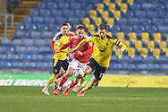 Oxford United forward James Henry (17) running with the ball during the EFL Sky Bet League 1 match between Oxford United and Swindon Town at the Kassam Stadium, Oxford, England on 28 November 2020.