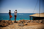 The beach in Himara, Albania, with a predominant Greek minority