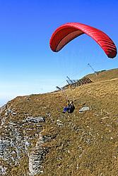 Hand Glider From Männlichen