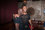 Paterson Joseph,  Ray Fearon, West End opening of RSC production of Julius Caesar at the Noel Coward Theatre on Saint Martin's Lane. After-party  at Salvador and Amanda, Gt. Newport St. London. 15 August 2012.