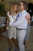 Damien Hirst and Maia Norman. Mollie Dent-Brocklehurst and Vanity Fair host  the opening of 'Vertigo'  a mixed art exhibition at Sudeley Castle. Winchombe, Gloucestershire. 18 June 2005. ONE TIME USE ONLY - DO NOT ARCHIVE  © Copyright Photograph by Dafydd Jones 66 Stockwell Park Rd. London SW9 0DA Tel 020 7733 0108 www.dafjones.com