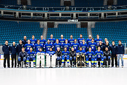 Slovenian National Team at ice hockey practice one day before at IIHF World Championship DIV. I Group A Kazakhstan 2019, on April 28, 2019 in Barys Arena, Nur-Sultan, Kazakhstan. Photo by Matic Klansek Velej / Sportida