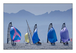 Brewin Dolphin Scottish Series 2010, Tarbert Loch Fyne - Yachting..Perfect conditions for the last days racing deciding the result in most fleets,..RS Elite Fleet downwind with IRL2515 ,No Angel ,Fiona Hicks ,Royal Ulster YC under Arran..Credit : Marc Turner / CCC......