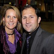 NLD/Rotterdam/20081016 - Premiere Mystery show Holiday on Ice, jeroen Blijlevens en partner Franske Korsmit