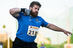 Blaz Zupancic competes in Shot put during day one of the 2020 Slovenian Cup in ZAK Stadium on July 4, 2020 in Ljubljana, Slovenia. Photo by Grega Valancic / Sportida