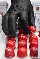 Chocolates for sale at The Chocolate Show, at Olympia in Kensington, London.  Picture date: Friday October 13th, 2017. Photo credit should read: Matt Crossick/ EMPICS Entertainment.