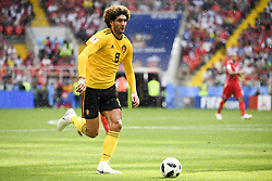 June 23, 2018 - Moscow, Russia - Marouane Fellaini of Belgium runs with the ball during the 2018 FIFA World Cup Group G match between Belgium and Tunisia at Spartak Stadium in Moscow, Russia on June 23, 2018  (Credit Image: © Andrew Surma/NurPhoto via ZUMA Press)