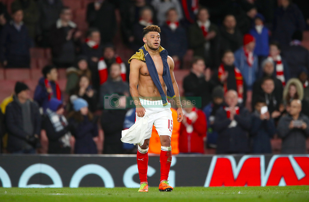 Arsenal's Alex Oxlade-Chamberlain after the final whistle