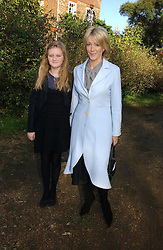 LADY COSIMA SOMERSET and her daughter ROMEY at the wedding of Lucy Ferry to Robin Birley held at Ormsby Lodge, Ham Gate Avenue, Ham, Surrey on 26th October 2006.<br /><br />NON EXCLUSIVE - WORLD RIGHTS