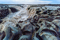 Iceland. Jokulsa a Fjollum river in the Vatnajokull National Park, along the road to Askja. Gljufrasmidur waterfall.