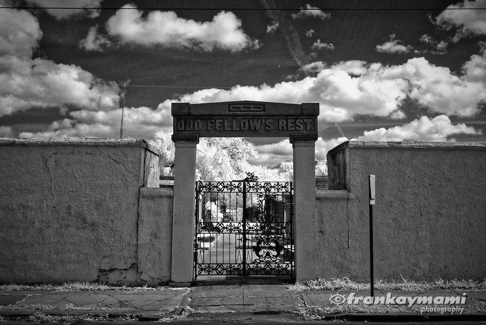Infrared images of Odd Fellows Rest Cemetery in New Orleans, LA