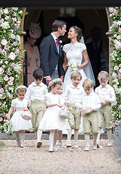 May 20, 2017: .Pippa Middleton marries James Matthews. Present at the ceremony were her sister, Kate with Prince William and Prince Harry. Prince George and Princess Charlotte were pageboy and bridesmaids.(Credit Image: © Exclusivepix media via ZUMA Press)