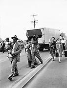 Y-480530-08.  Survivors on N. Denver Avenue escape the Vanport Flood. May 30, 1948.