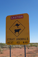 Caution, stray animals