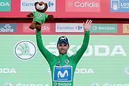 Podium, Alejandro Valverde (ESP - Movistar) green jersey, during the UCI World Tour, Tour of Spain (Vuelta) 2018, Stage 9, Talavera de la Reina - La Covatilla 200,8 km in Spain, on September 3rd, 2018 - Photo Luis Angel Gomez / BettiniPhoto / ProSportsImages / DPPI