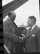 Aga Khan arrives at Dublin Airport 13th june 1961