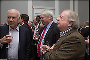 MICHAEL COCKERELL; ADAM BOULTON; JOHN SERGEANT, James Naughtie: The Madness of July published by Head of Zeus - book launch party, ICA, London. 25 February 2014.