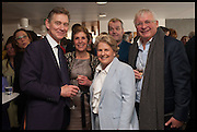 ANTONY ANDREWS; GEORGINA ANDREWS; SANDI TONSVIG; CHRISTOPHER BIGGINS, Sandi  and Debbie Toksvig,  renewing their civil partnership vows at the Royal Festival Hall. London. 29 March 2014.