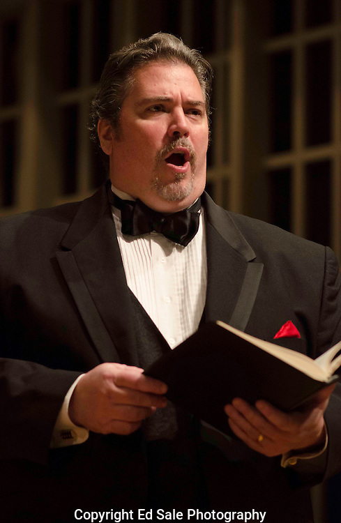 Singer performs with the Oregon Repertory Singers and the Vancouver, Washington symphony during a dress rehearsal.