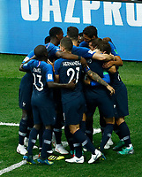 france celebration after 1-0<br /> Moscow 15-07-2018 Football FIFA World Cup Russia  2018 Final / Finale <br /> France - Croatia / Francia - Croazia <br /> Foto Matteo Ciambelli/Insidefoto