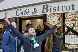 February 21, 2019 - Milano, Italia, Italia - Foto Carlo Cozzoli - LaPresse.21-02-19 Milano ( Italia ).Cronaca .Tifosi Austria Vienna, bar Bristol in Via Giuseppe Mazzini (Credit Image: © Carlo Cozzoli/Lapresse via ZUMA Press)
