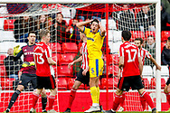 Wimbledon defender Will Nightingale (5) puts the ball over  during the EFL Sky Bet League 1 match between Sunderland and AFC Wimbledon at the Stadium Of Light, Sunderland, England on 2 February 2019.