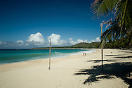 Tropical beach of Pagudpud.<br /> Ilocos Sur and Ilocos Norte are the Filipino provinces situated on Luzon Island and famous for heritage town of Vigan, windmills of Bangui, white sand beach of Pagudpud not to mention former president Marcos, who was born there.