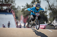 #127 (ESCOBAR YEPES Andrea) COL during practice at Round 9 of the 2019 UCI BMX Supercross World Cup in Santiago del Estero, Argentina