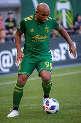 June 15, 2018 - Portland, Oregon, U.S. - PORTLAND, OR - JUNE 15: Portland Timbers forward Samuel Armenteros controls a ball during the Portland Timbers game versus the LA Galaxy in a United States Open Cup match on June 15, 2018, at Providence Park, OR. (Photo by Diego G Diaz/Icon Sportswire) (Credit Image: © Diego Diaz/Icon SMI via ZUMA Press)