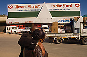 The city market in Maseru, Lesotho is busy in the late afternoon. Based on indicators of poverty, human resources and economic diversification, Lesotho is ranked 145 out of 177 countries on the United Nations Development Program.