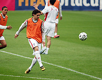 Photo: Chris Ratcliffe.<br />England Training Session. FIFA World Cup 2006. 28/06/2006.<br />Owen Hargreaves in training.